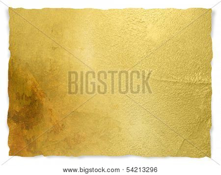 Gold paper background with ripped edge