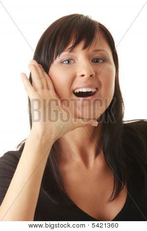 A Young Woman Scream Loud