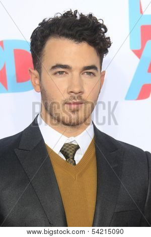 LOS ANGELES - NOV 17: Kevin Jonas at the 5th Annual TeenNick HALO Awards at the Hollywood Palladium on November 17, 2013 in Los Angeles, California