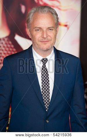 LOS ANGELES, CA - NOVEMBER 18: Director Francis Lawrence arrives at the premiere of The Hunger Games: Catching Fire at the Nokia Theater in Los Angeles, CA on November 18, 2013