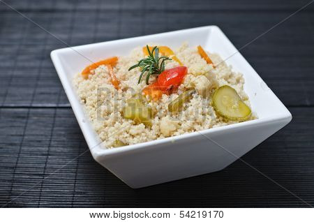 Cous Cous, Amaranth Or Birdseed With Vegetables