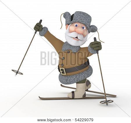 The Grandfather On Skis.