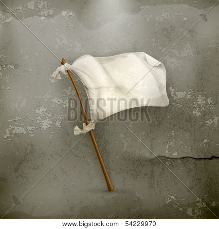 White flag old style vector