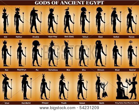Gods Of Ancient Egypt.eps