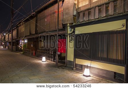 Shinbashi Dori Is One Of The Most Beautiful Streets In Kyoto, With Restored Traditional Architecture