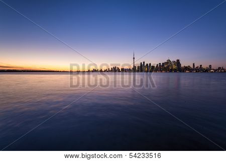 Sunset And Downtown Toronto