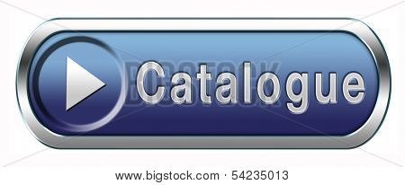 Catalogue download button or free product brochure icon
