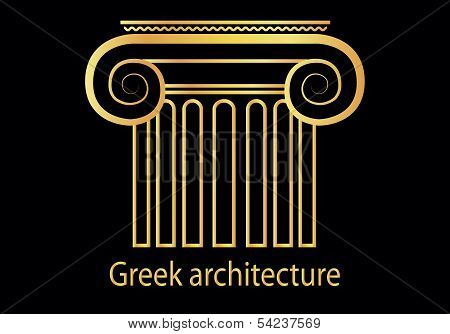 golden Greek column