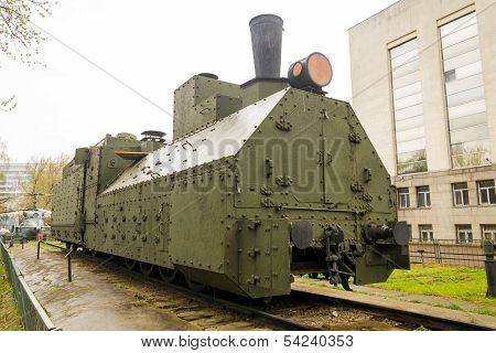 Armoured Russian locomotive class Ov 5067 Front Right