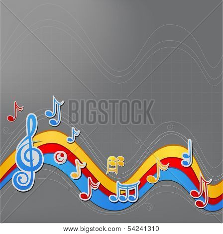Paper music background