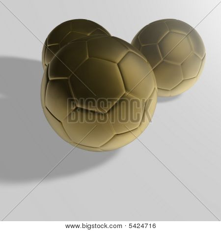 Golden Soccer Ball