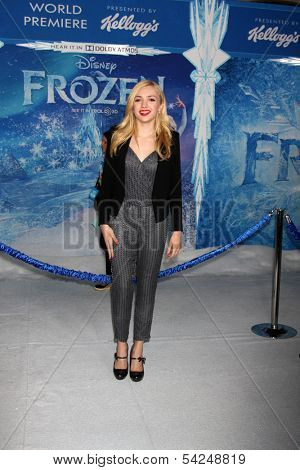 "LOS ANGELES - NOV 19:  Peyton List at the ""Frozen"" World Premiere at El Capitan Theater on November 19, 2013 in Los Angeles, CA"