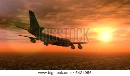 Fly At Sunset