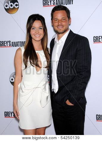 LOS ANGELES - SEP 28:  Camilla Luddington & Justin Chambers arrives to