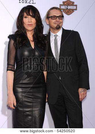 LOS ANGELES - SEP 07:  Katey Segal & Kurt Sutter arrives to