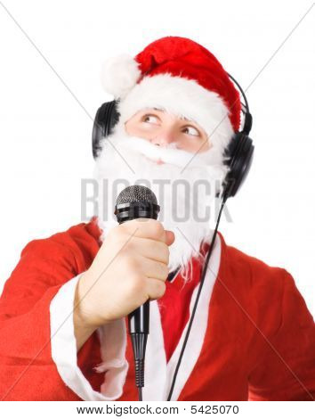 Santa Claus Singing A Song