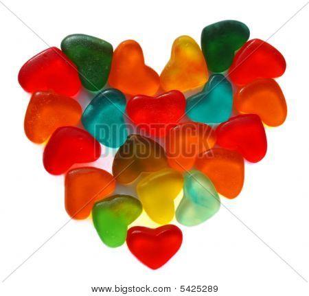 Heart Of Fruit Jellies