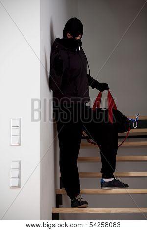 Burglar On Stairways