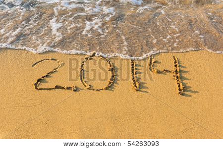 2014 On Beach In Sand Strip Of The Coast