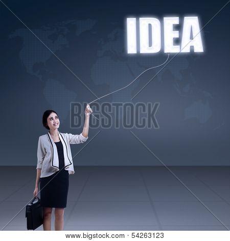 Busineswoman Having Bright Idea