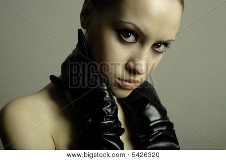 Portrait Of Girl With  Gloves