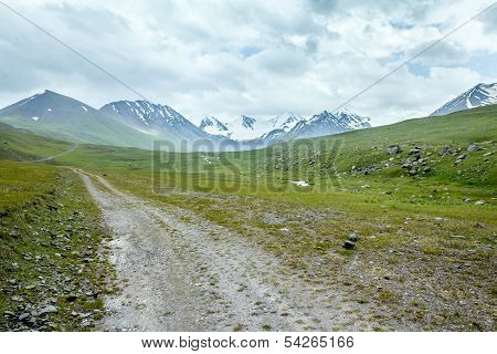 Dirt road in mountains