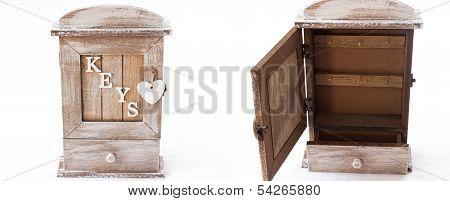 Wooden Box For Keys