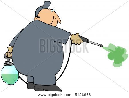 Man Spraying Insecticide