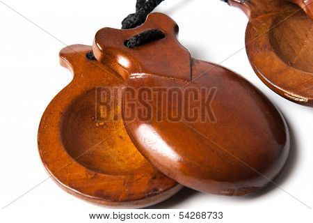 Spanish Castanets on white background