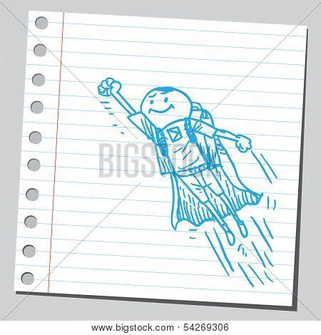 Schoolkid superhero
