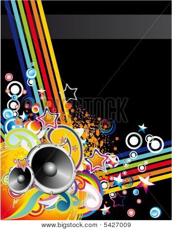 Music Colorful Abstract Background