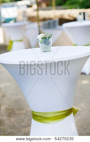 Table Set For Outdoor Summer Wedding Or Event