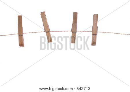 Clothespins On Rope