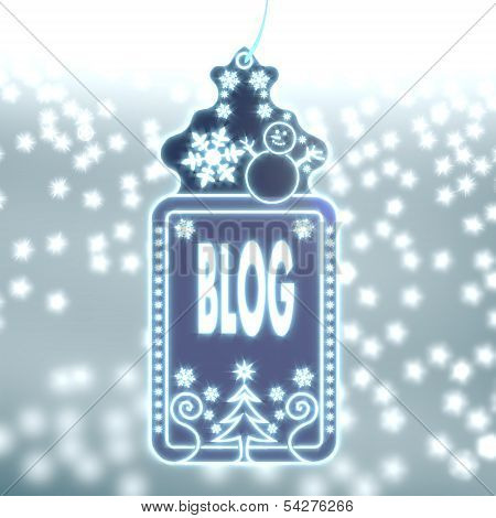 Magic Christmas Label With Blog Sticker