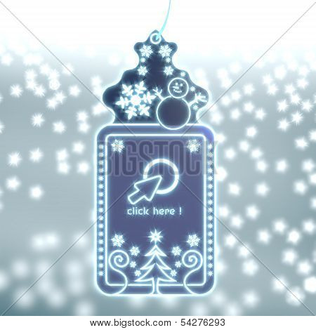 Magic Christmas Label With Click Here Sticker