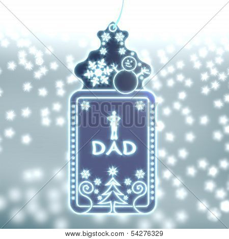 Magic Christmas Label With Dad Sticker