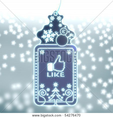 Magic Christmas Label With Like Sticker