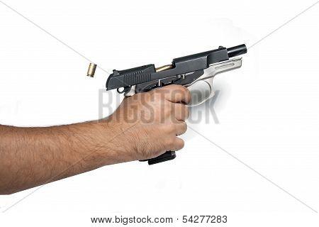 9mm pistol shot