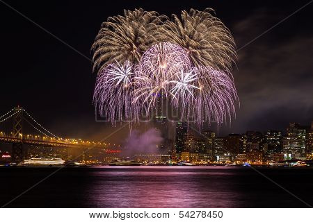 New Year Eve Fireworks in San Francisco