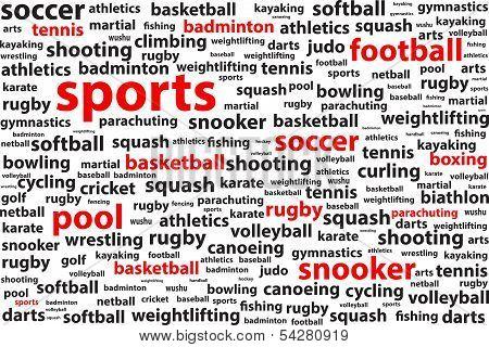 Sports Categories Word Cloud