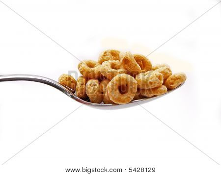 Spoonful Of Cereal Isolated 2