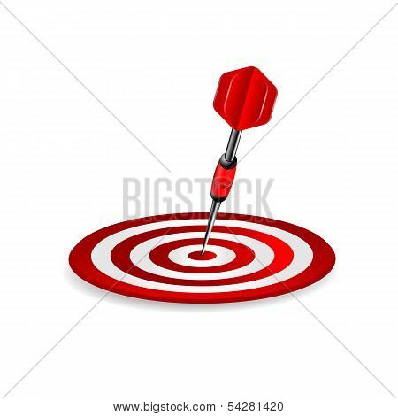 Darts.target Of Red Color And Dart Isolated On A White Background.vector