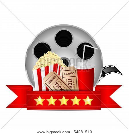 Movie Icon.items For Cinema Isolated On White Background.vector