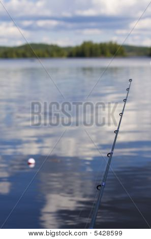 Fishing Pole And Bobber Scene