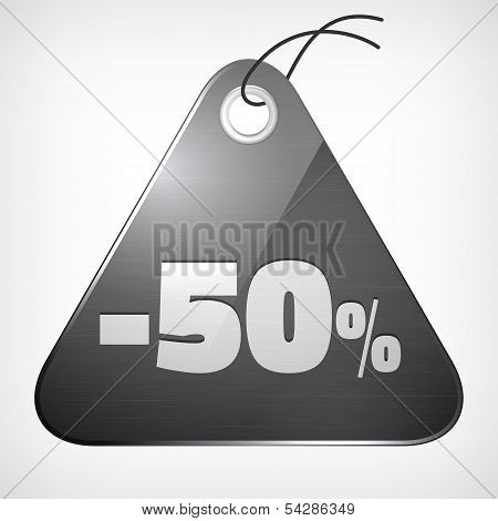 Metal Brushed Glossy Label Fity Percent Sale Off