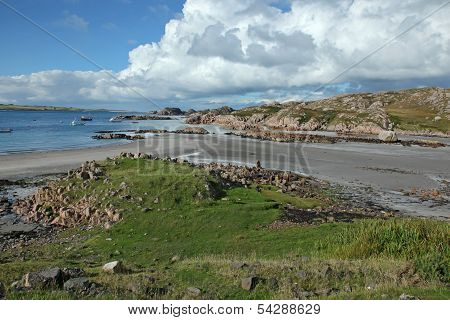Beach At Fionnphort, Isle Of Mull, Scotland, Uk