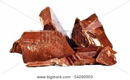 Heap Of Delicious Black Chocolate