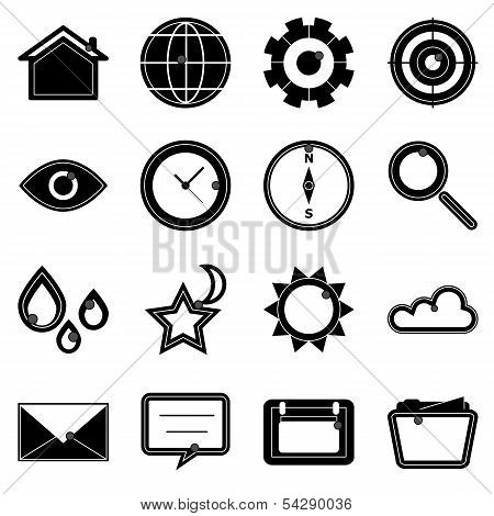 Design Useful Web Icons On White Background