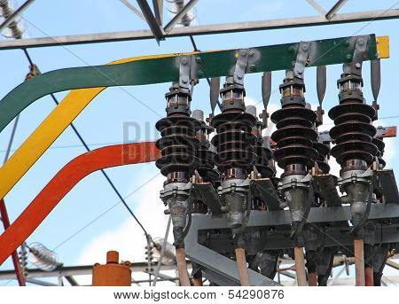 Large Current Isolators With Copper Bars For Electric Power