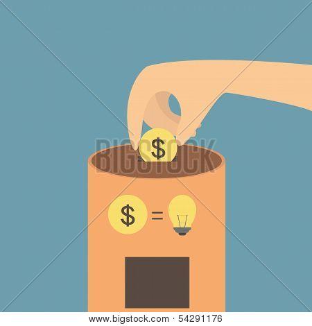 Idea vending concept machine